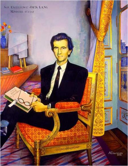 portrait,jack lang,hôtel de valois,ministère de la culture