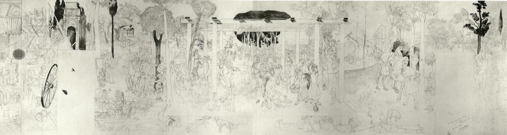 Fresque d'Ottawa - Alfred Courmes